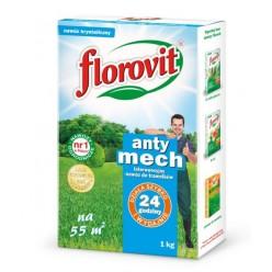 Удобрение Флоровит для газонов Анти мох гран 1 кг, коробка