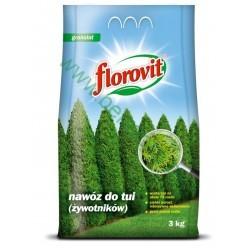 Удобрение Флоровит для туй граннулированное 3кг, мешок